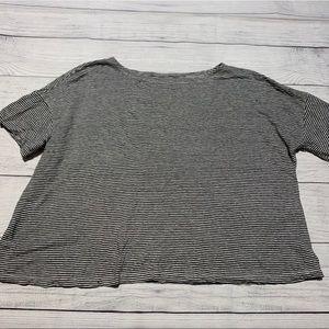 Eileen Fisher Striped Organic Linen Shirt
